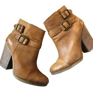 Lucky Brand Tan Leather Heel Booties